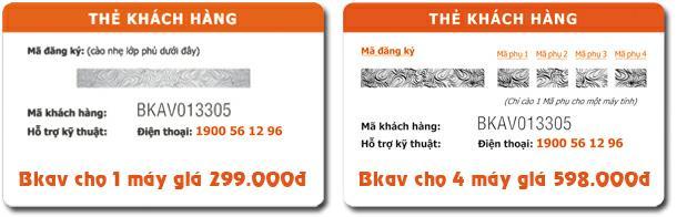 Thẻ bản quyền Bkav Pro